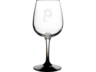 Pittsburgh Pirates Satin Etch Wine Glass