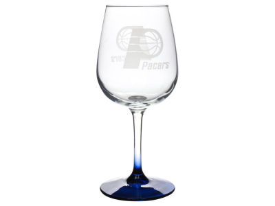 Indiana Pacers Satin Etch Wine Glass