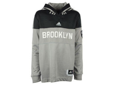 Brooklyn Nets NBA Youth On Court Hooded Shooter Shirt