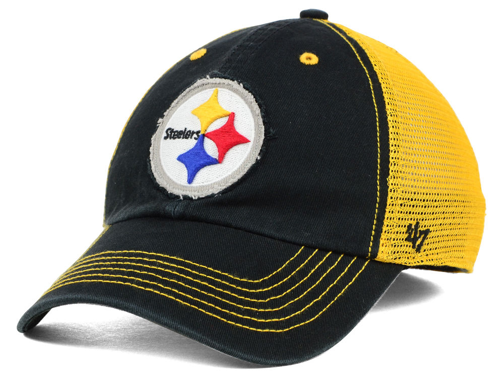 buy online 05275 62335 top quality pittsburgh steelers 47 nfl taylor 47 closer cap bfc61 c30d9