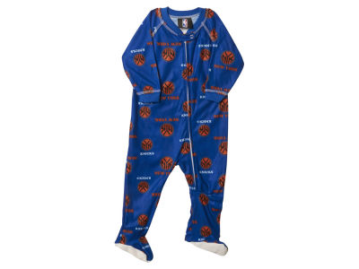 New York Knicks NBA Newborn Piped Raglan Zip Up Coverall