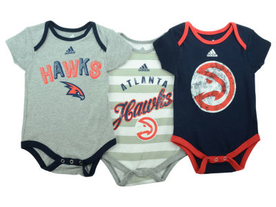 Atlanta Hawks NBA Newborn 3 Point Play Creeper Set