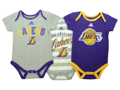 Los Angeles Lakers NBA Newborn 3 Point Play Creeper Set