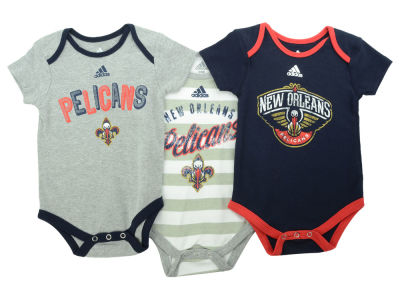 New Orleans Pelicans NBA Newborn 3 Point Play Creeper Set