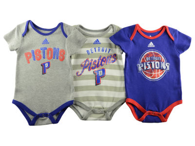 Detroit Pistons NBA Newborn 3 Point Play Creeper Set