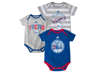 Philadelphia 76ers NBA Newborn 3 Point Play Creeper Set