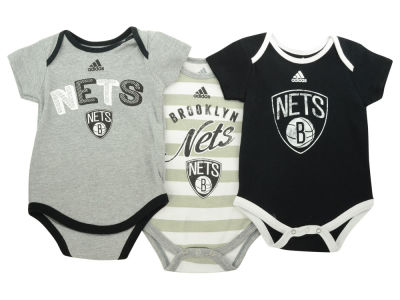Brooklyn Nets NBA Infant 3 Point Play Bodysuit Set