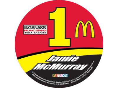 "Jamie McMurray NASCAR 3"" Round Decal"
