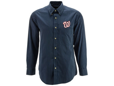 Washington Nationals MLB Men's Achieve Button Up Collar Woven Shirt