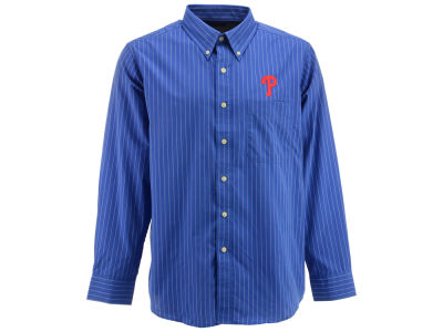 Philadelphia Phillies MLB Men's Achieve Button Up Collar Woven Shirt