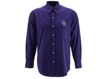 Colorado Rockies MLB Men's Achieve Button Up Collar Woven Shirt