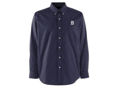 Detroit Tigers Antigua MLB Men's Achieve Button Up Collar Woven Shirt