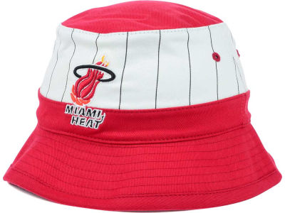 Miami Heat Mitchell and Ness NBA Pin Stripe Bucket Hat