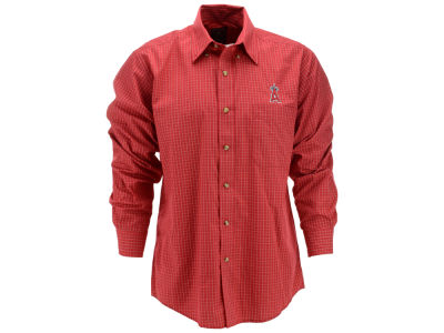 Los Angeles Angels MLB Men's Esteem Long Sleeve Button Up Shirt
