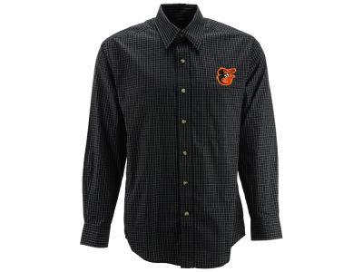 Baltimore Orioles MLB Men's Esteem Long Sleeve Button Up Shirt