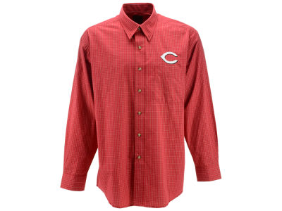Cincinnati Reds MLB Men's Esteem Long Sleeve Button Up Shirt