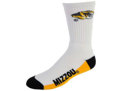 Missouri Tigers Crew White 506 Sock