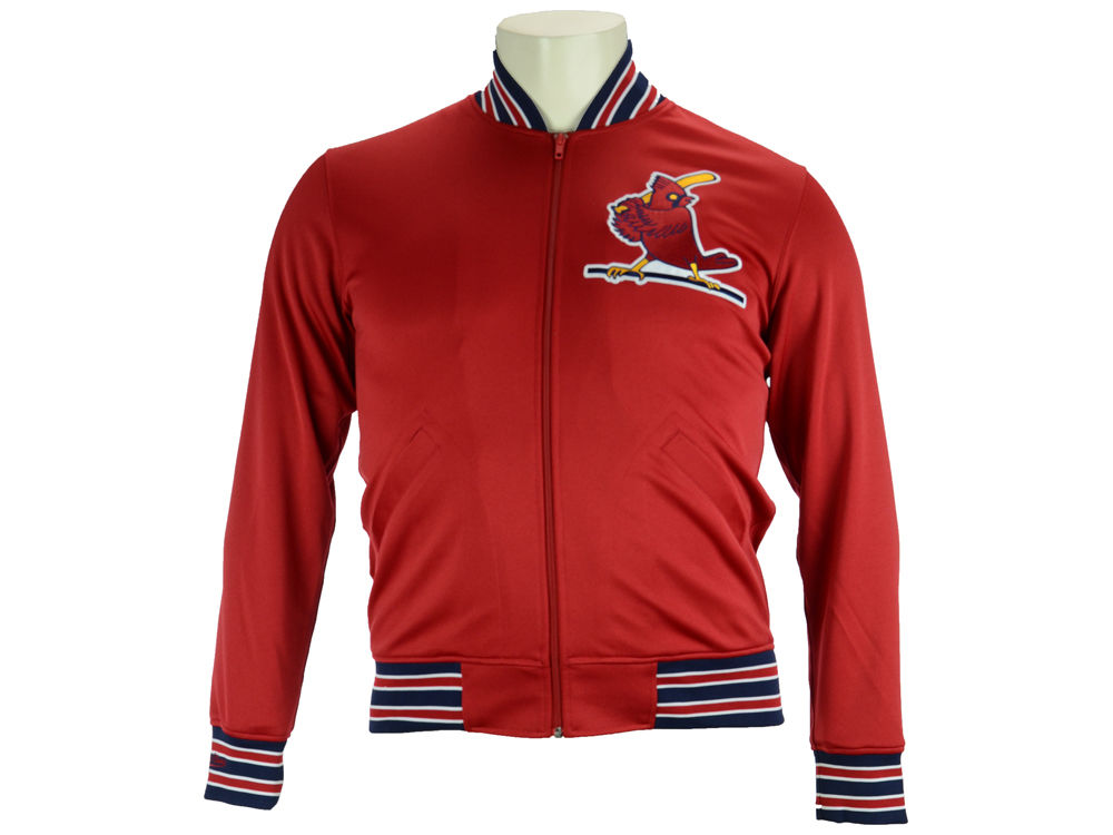 reputable site 67419 ae237 ... St. Louis Cardinals Mitchell Ness MLB Men s Authentic Full Zip BP Jacket  ...
