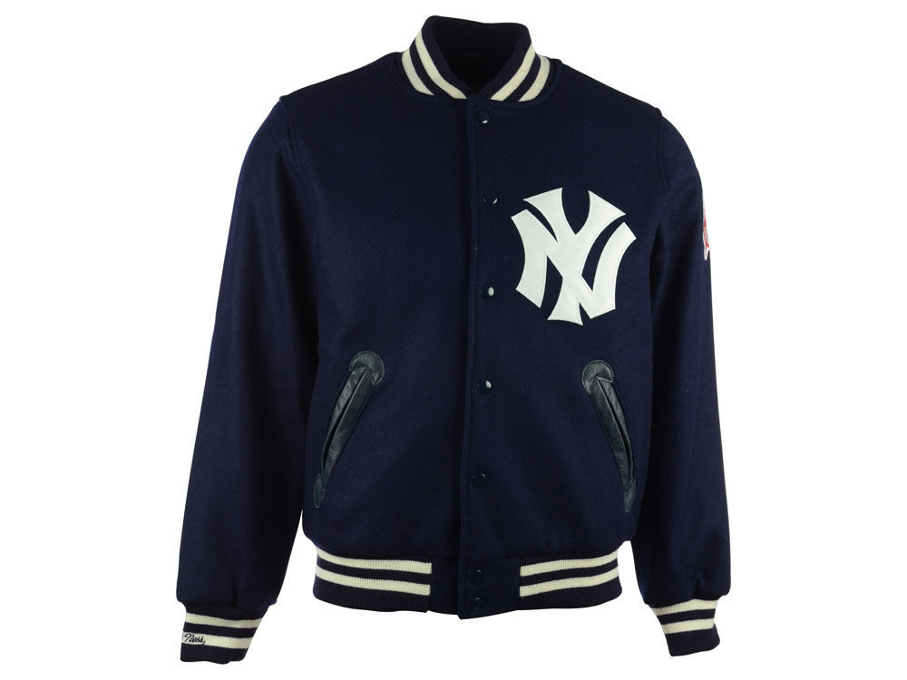 New York Yankees Mitchell   Ness MLB Men s Authentic Varsity Jacket. Top.  New ... d88e790ede5