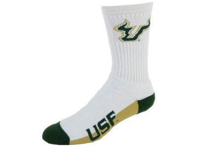 South Florida Bulls For Bare Feet Crew White 506 Sock