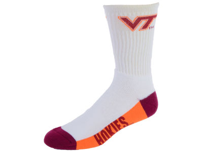 Virginia Tech Hokies Crew White 506 Sock