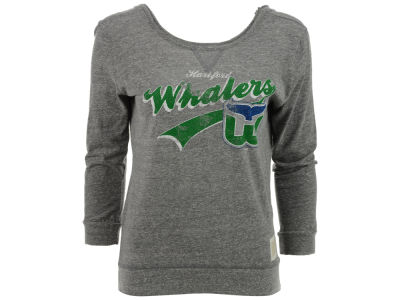 Hartford Whalers NHL Womens Long Sleeve Hi Lo T-Shirt