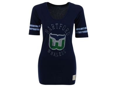 Hartford Whalers NHL Womens Stripe Scoop T-Shirt