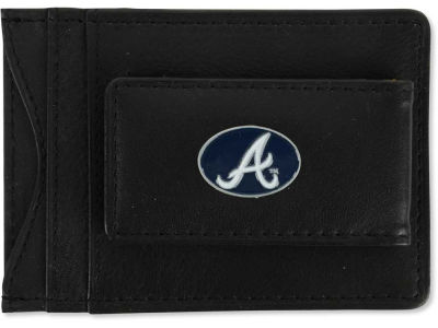 Atlanta Braves Leather Magnetic Money Clip