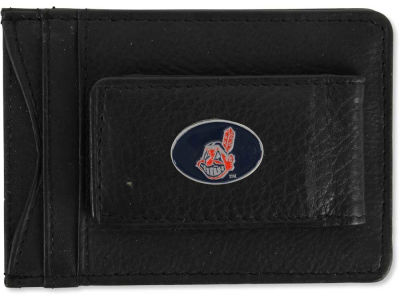 Cleveland Indians Leather Magnetic Money Clip