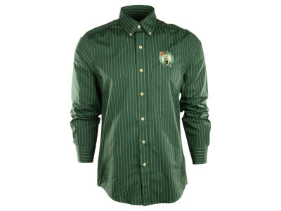 Boston Celtics NBA Achieve Button Down Woven Shirt
