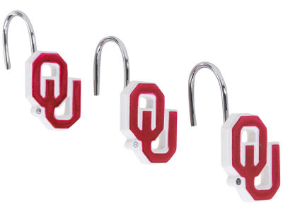 Oklahoma Sooners Shower Curtain Hooks