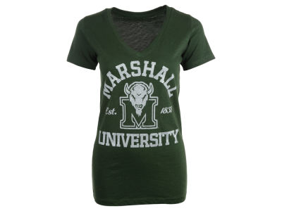 Marshall Thundering Herd NCAA Womens Brody Glitter V Neck T-Shirt