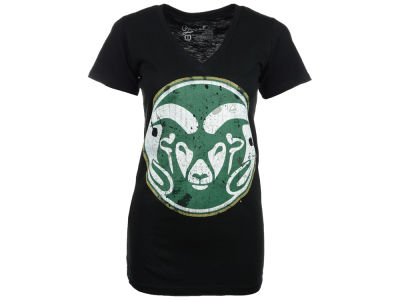 Colorado State Rams NCAA Womens Max Antique Vneck T-Shirt