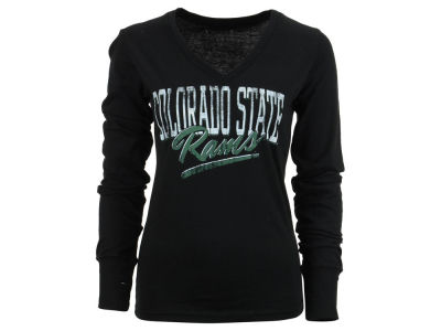 Colorado State Rams NCAA Womens Caroline Long Sleeve Vneck T-Shirt