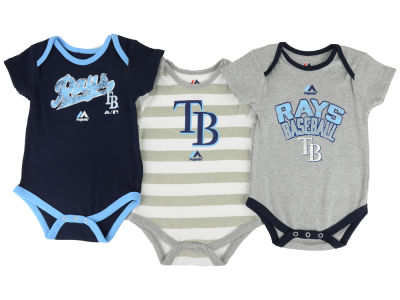 Tampa Bay Rays MLB Infant Triple Play 3 Piece Bodysuit Set 14