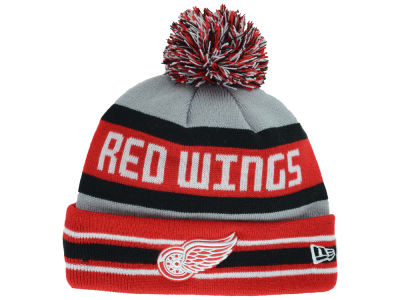 Detroit Red Wings New Era NHL Gray Jake Pom Knit