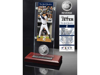 New York Yankees Derek Jeter Ticket and Coin Acrylic