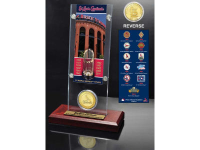 St. Louis Cardinals Ticket and Coin Acrylic