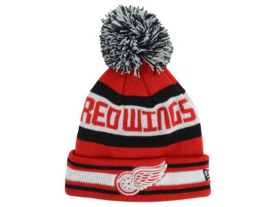 Detroit Red Wings New Era NHL Kids Jacob Pom Knit