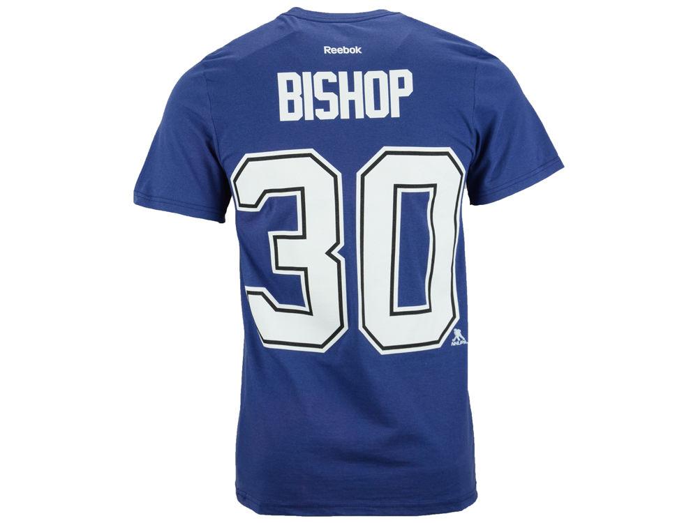 Tampa Bay Lightning Ben Bishop Reebok NHL Men s Player T-Shirt 3e3f61c6b