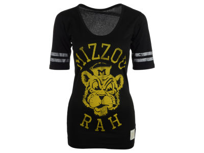Missouri Tigers NCAA Womens Stripe Scoop T-Shirt
