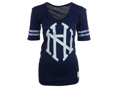 New Hampshire Wildcats NCAA Womens Stripe Scoop T-Shirt