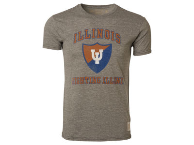 Illinois Fighting Illini Retro Brand NCAA Triblend Streaky T-Shirt