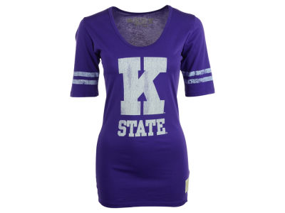 Kansas State Wildcats NCAA Womens Stripe Scoop T-Shirt