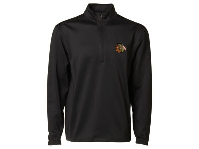 Chicago Blackhawks NHL Men's Covert Text 1/4 Zip Pullover Shirt
