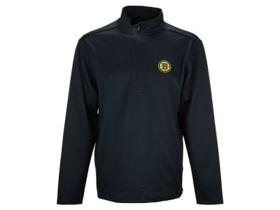 Boston Bruins NHL Men's Covert Text 1/4 Zip Pullover Shirt
