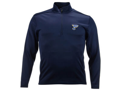 St. Louis Blues NHL Men's Covert Text 1/4 Zip Pullover Shirt