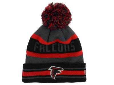 Atlanta Falcons New Era NFL Graphite Black Team Color Pop Jake Knit