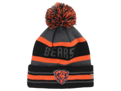 Chicago Bears New Era NFL Graphite Black Team Color Pop Jake Knit