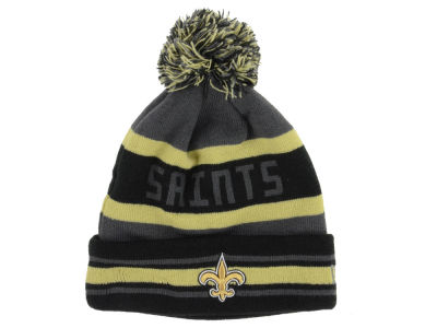 New Orleans Saints New Era NFL Graphite Black Team Color Pop Jake Knit